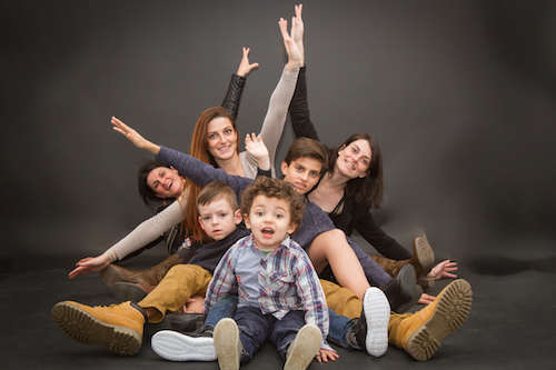 Shooting pohoto famille studio
